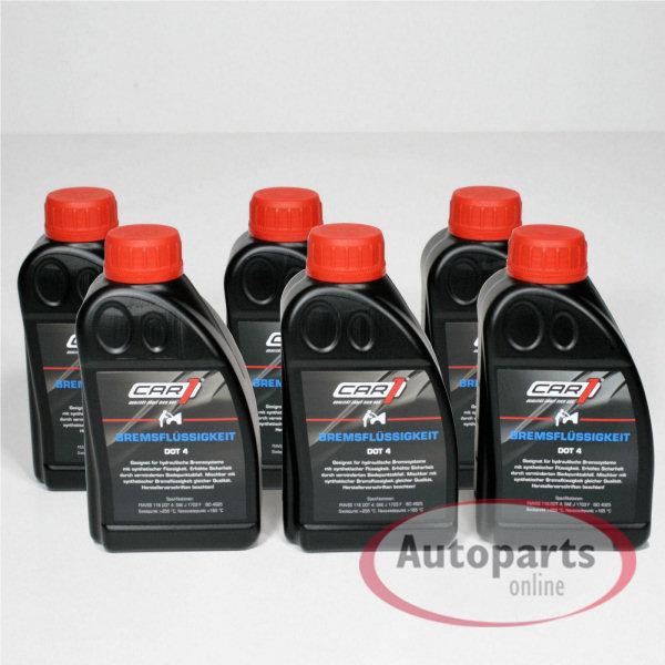 Car1 - 6x Bremsflüssigkeit DOT 4 - 500 ml