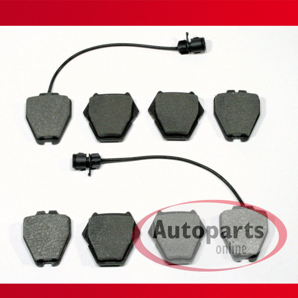 8 Bremsbeläge Bremsklötze Audi A8 4D vorneVorderachse mit Warnkabel