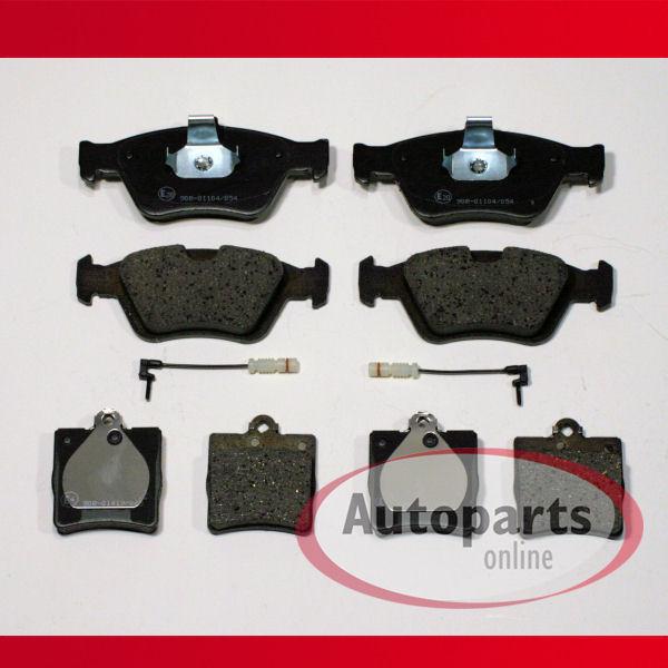 Mercedes E-KLASSE Kombi S210 E 270 T CDI 4 x Bremsbeläge vorne Vorderachse