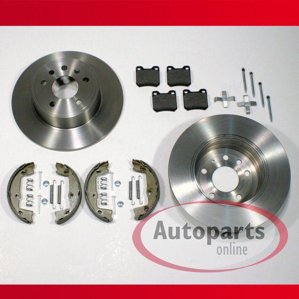 Bremsscheiben Bremsen 4 Loch Handbremse Zubehör für hinten Opel Vectra B