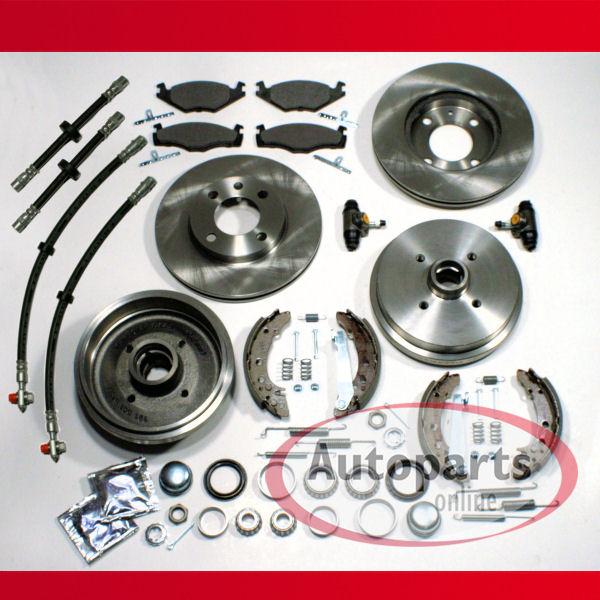 Bremstrommel Bremsen Set Zubehör für hinten Hinterachse 53B VW Scirocco