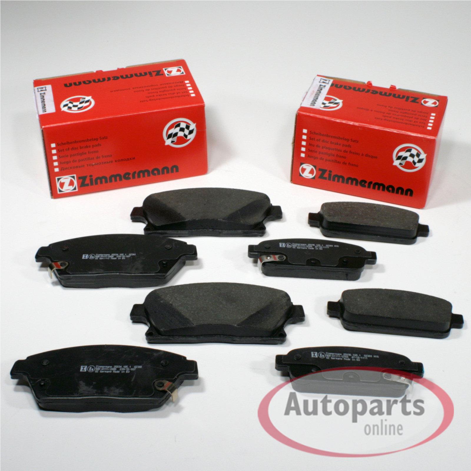Bremsbeläge Bremsklötze für vorne die Vorderachse Opel Zafira Tourer C