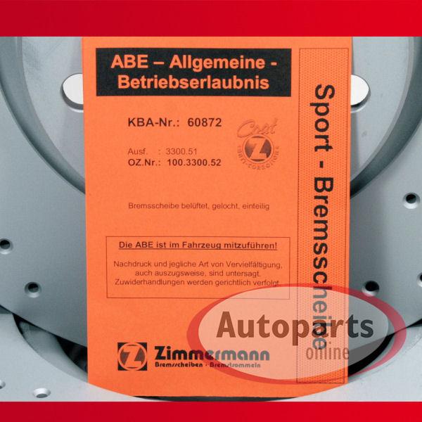 1Z Zimmermann Bremsbeläge Bremsklötze für vorne hinten Skoda Octavia II