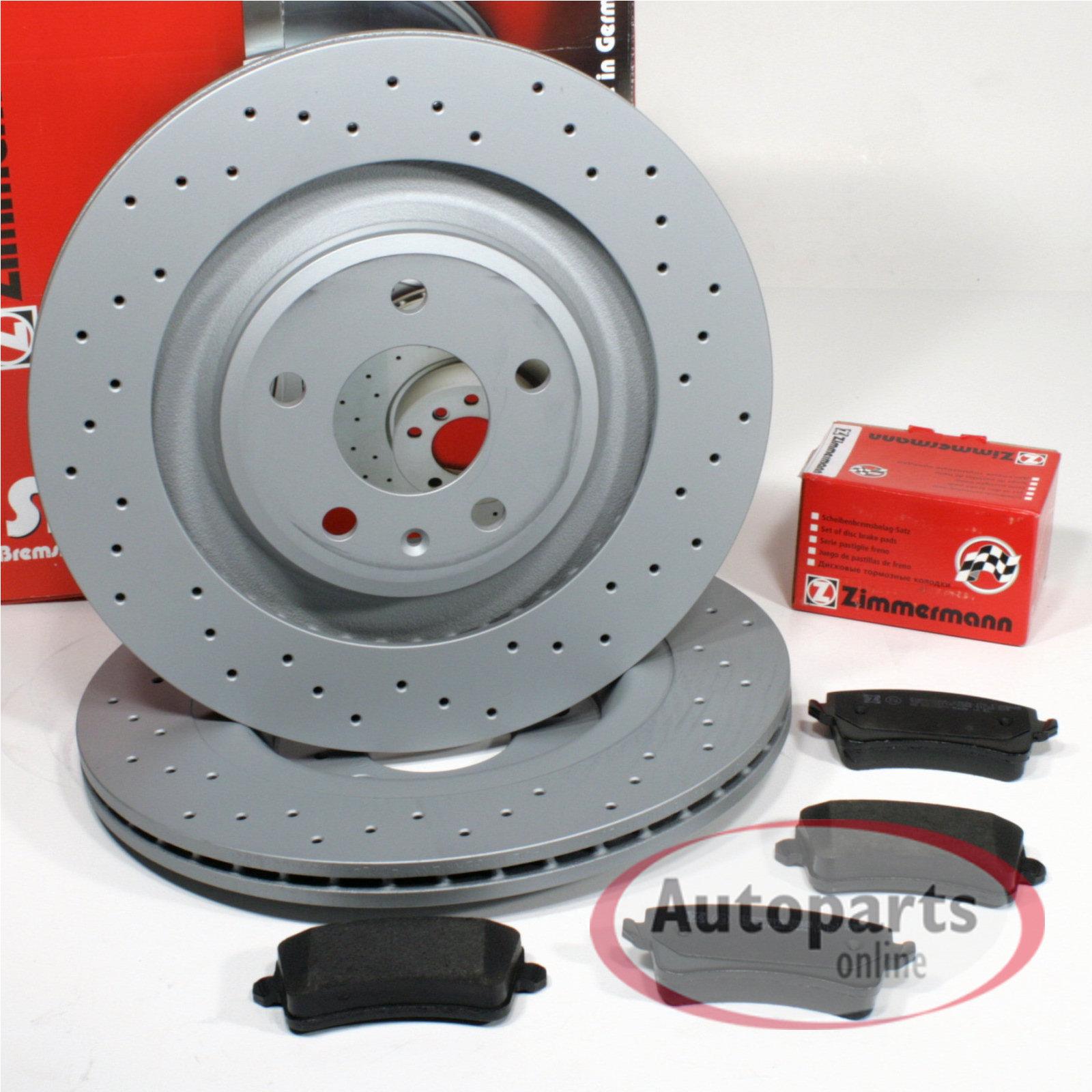 Audi A4 B8 Zimmermann Sport Bremsscheiben 1ke Gelocht