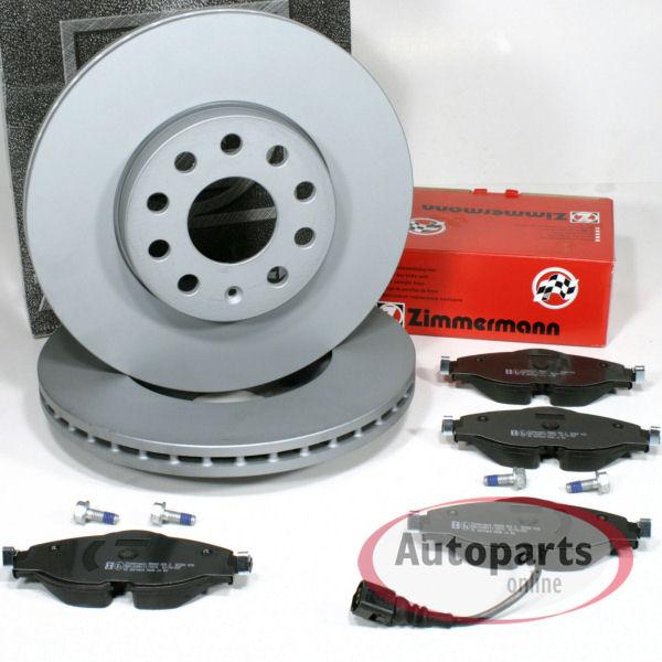 Bremsscheiben 1ZE Bremsen Bremsbel/äge Warnkabel f/ür vorne die Vorderachse