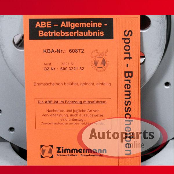 VW Scirocco Metzger Bremsscheiben Bremsen Bremsbeläge für hinten