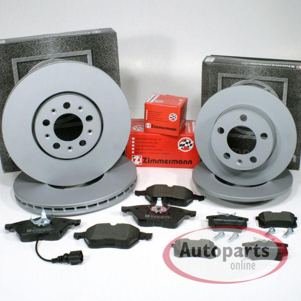 Bremse vorn AUDI A3 8P 2.0 TDI Bremsscheiben Beläge Vorderachse 1ZE 1ZP
