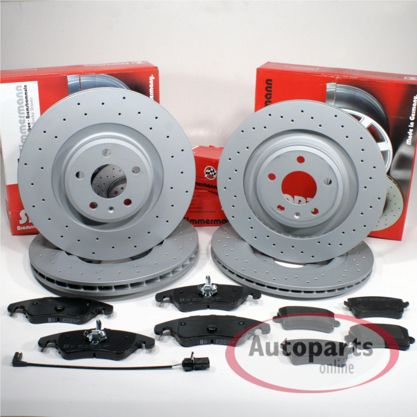 Audi A4 B8 Zimmermann Bremsbeläge Bremsklötze für vorne die Vorderachse