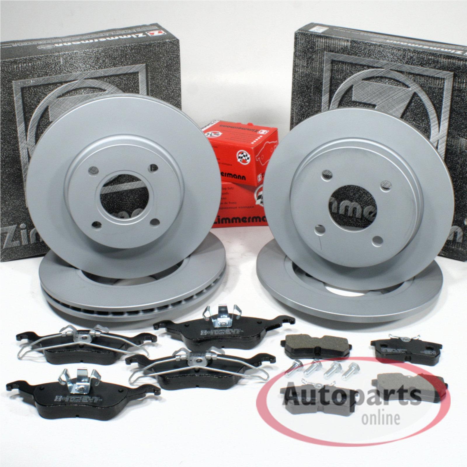 Beläge Vorne /& Hinten Ford Focus Kombi Stufenheck DAW DNW 4 Bremsscheiben