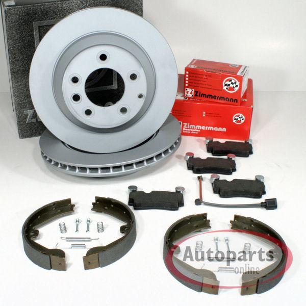 Bremscheiben Bremsbeläge Verschleißwarnkabel für hinten Porsche Cayenne