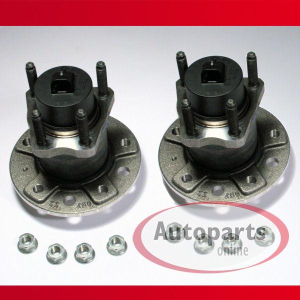 Saab 9-3 - 2 x Radnabe / Radlager / Radlagersatz + ABS Sensor für hinten / für die Hinterachse