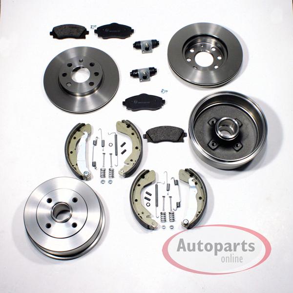 Bremsbeläge vorne Nissan Micra K11 Zimmermann Bremsscheiben 234mm